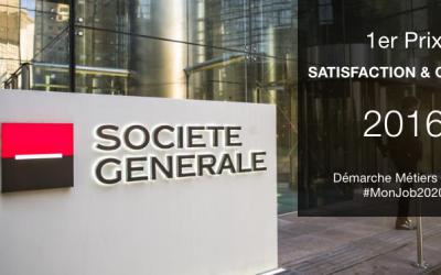 """1er Prix """"Satisfaction et Qualité"""" pour la démarche métiers BDDF à la Société Générale"""